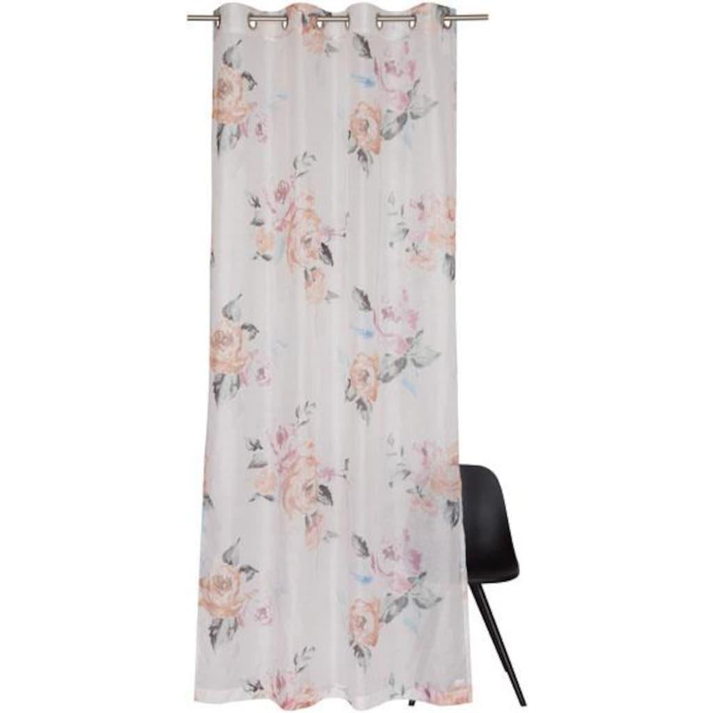 SCHÖNER WOHNEN-Kollektion Vorhang nach Maß »Bouquet«, Blüten mit Pastelltönen