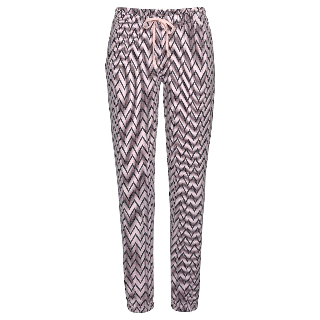Vivance Dreams Pyjama, mit gemusterter Schlafhose