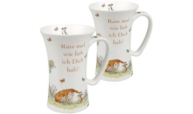 Könitz Becher »Weißt du eigentlich - Rate mal - Mega Mug«, (Set, 2 tlg.), Porzellan kaufen