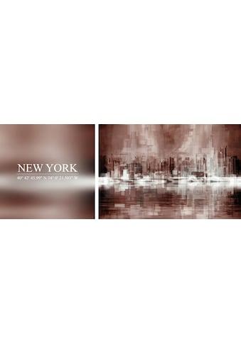 queence Leinwandbild »New York«, (Set), 2er-Set kaufen