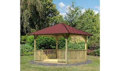 Karibu Holzpavillon »Cordoba 2«, (Set), BxT: 357x357 cm, inkl. Brüstung, Fußboden,... kaufen
