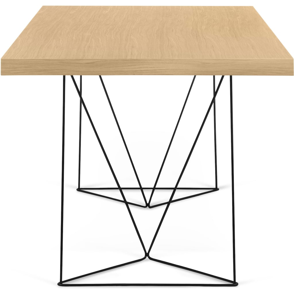 TemaHome Esstisch »Multi«, mit schönem schwarzen oder chromfarbenen Beingestell, in verschiedenen Farben und Tischgrößen erhältlich