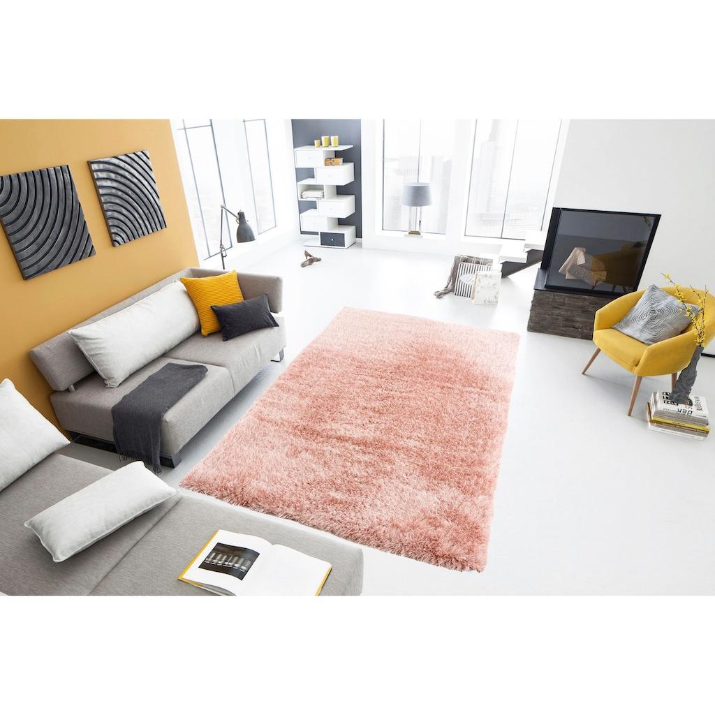 my home Hochflor-Teppich »Herdis«, rechteckig, 70 mm Höhe, besonders weich durch Mikrofaser