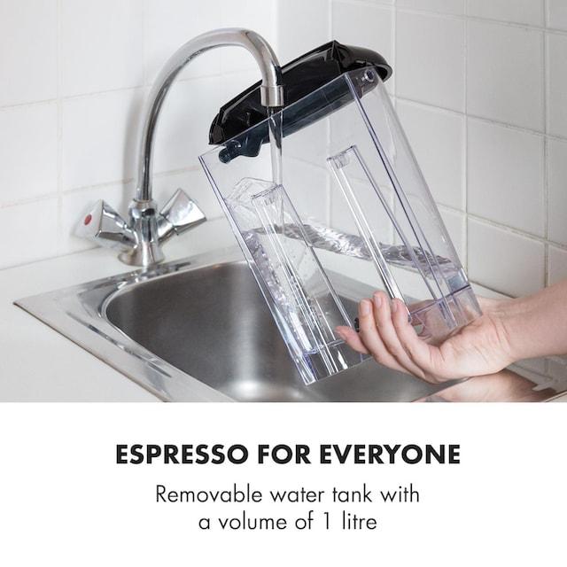 Klarstein Espressionata Gusto Espressomaschine 1100W 15 Bar »TK3G-«