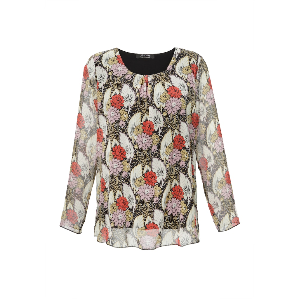 Aniston SELECTED Schlupfbluse, im bunten Blumendruck