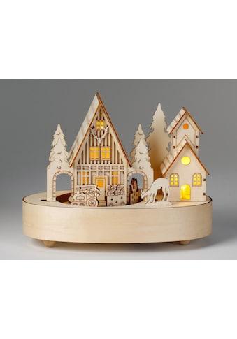 CHRISTMAS GOODS by Inge LED Dekolicht »Dorf«, Warmweiß, mit Musik kaufen