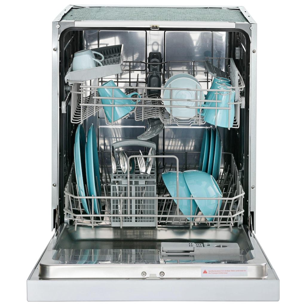 HELD MÖBEL Küchenzeile »Tulsa«, mit E-Geräten, Breite 320 cm, schwarze Metallgriffe, hochwertige MDF Fronten