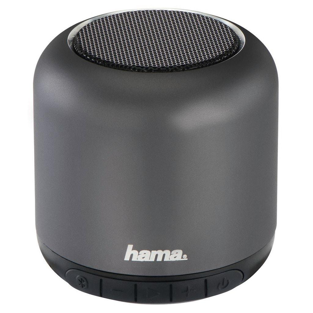"Hama Mobiler Bluetooth®-Lautsprecher ""Steel Drum"", Anthrazi"