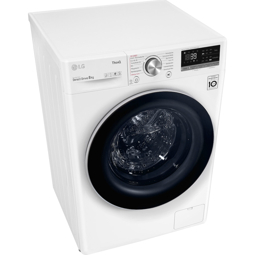 LG Waschmaschine »F4WV708P1«, Serie 7, F4WV708P1E, 8 kg, 1400 U/min