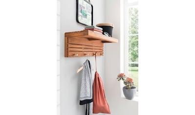 Destiny Ablageelement »SPA Garderobe/Wandbord mit Haken, Teakholz«, (1 St.) kaufen