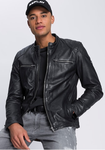 Bruno Banani Lederjacke, in Biker-Optik kaufen