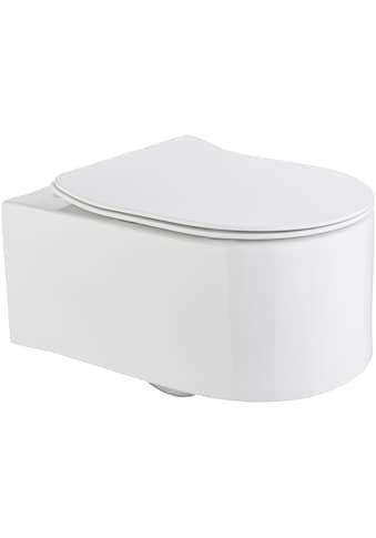 WELLTIME Wand - WC »Trento«, Toilette spülrandlos, inkl. WC - Sitz mit Softclose kaufen