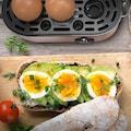 Arendo Edelstahl Eierkocher für 1 bis 3 Eier