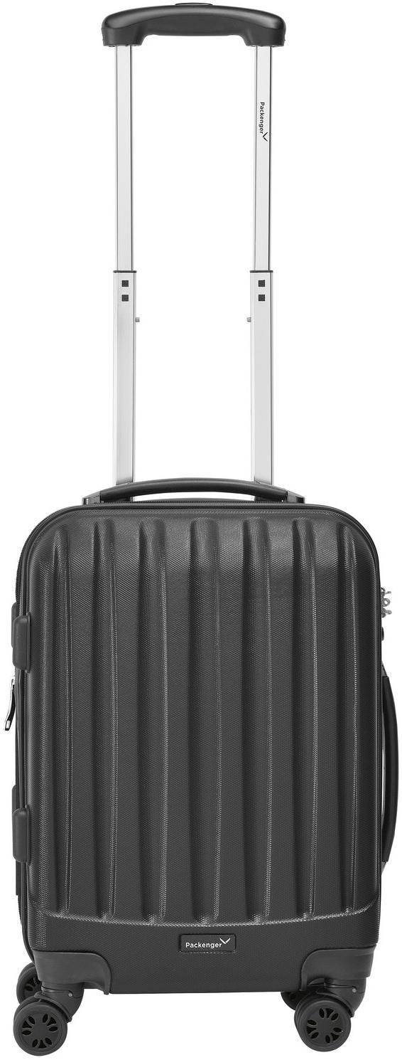 Packenger Hartschalen-Trolley ´´Velvet´´, 4 Rollen   Taschen > Koffer & Trolleys > Trolleys   Schwarz   Packenger