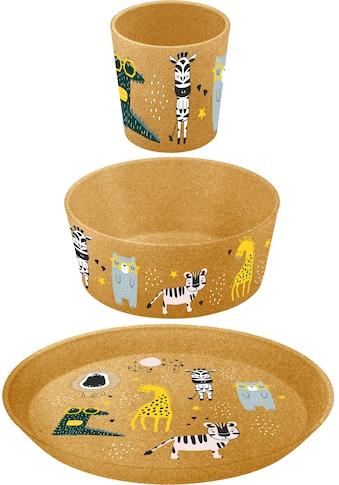 KOZIOL Kindergeschirr-Set »3er-Set Kleiner Teller + Schale + Becher CONNECT ZOO«,... kaufen