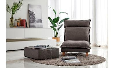 SalesFever Loungeset (Set, 2 - tlg Sessel mit Hocker) kaufen