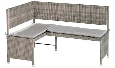 MERXX Gartenbank »Eckbank«, Stahl/Kunststoffgeflecht, 100x46x91 cm, inkl. Auflage kaufen