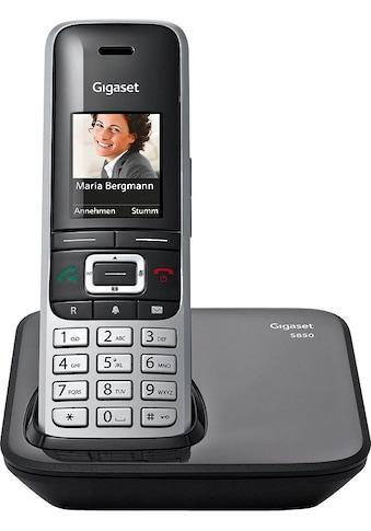 Gigaset Schnurloses DECT-Telefon »S850«, (Mobilteile: 1 Bluetooth), Weckfunktion, Freisprechen, SMS kaufen