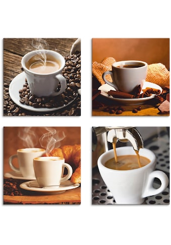 Artland Leinwandbild »Kaffee Bilder«, Getränke, (4 St.) kaufen
