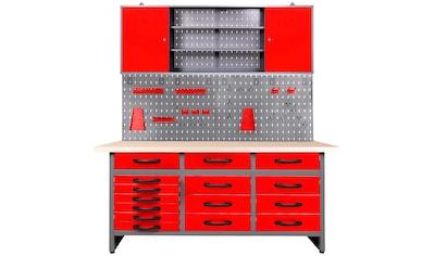 ONDIS24 Werkstatt - Set »Konny«, 160 cm, höhenverstellbar, inkl. Hakenset kaufen