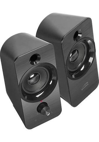Speedlink PC-Lautsprecher »DAROC Stereo Lautsprecher schwarz« kaufen