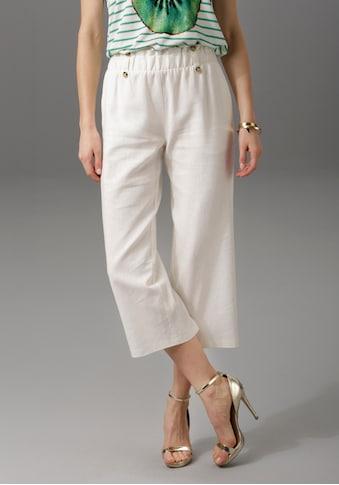 Aniston CASUAL Culotte, mit Leinen kaufen
