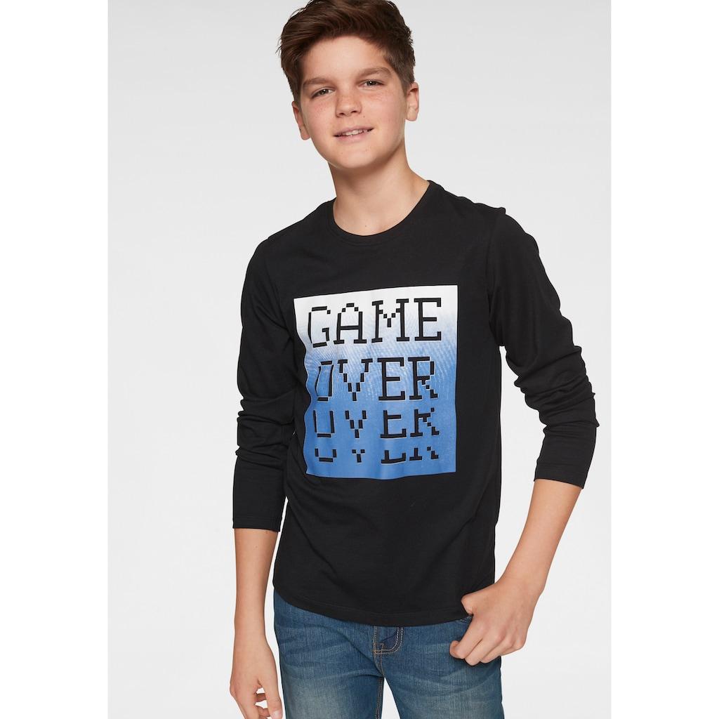 Arizona Langarmshirt »GAME OVER«