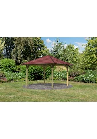 Karibu Holzpavillon »Cordoba 1«, (Set), BxT: 357x357 cm, inkl. Dachschindeln und... kaufen