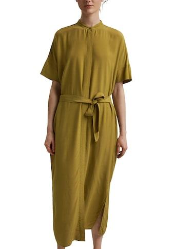 Esprit Collection Blusenkleid, (2 tlg., mit Bindegürtel), mit Stehkragen und... kaufen