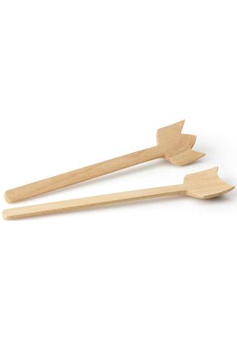 Continenta Salatbesteck »Simple«, (2 tlg.), Gummibaumholz, jedes Stück ein Unikat kaufen