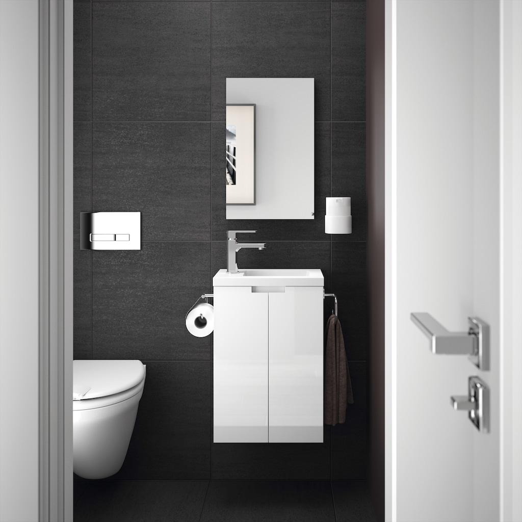 Allibert Badmöbel-Set »Closy Pack«, (3 St.), bestehend aus Waschplatz und Spiegel, Breite 40 cm, Inklusive Papierhalter und Handtuchring
