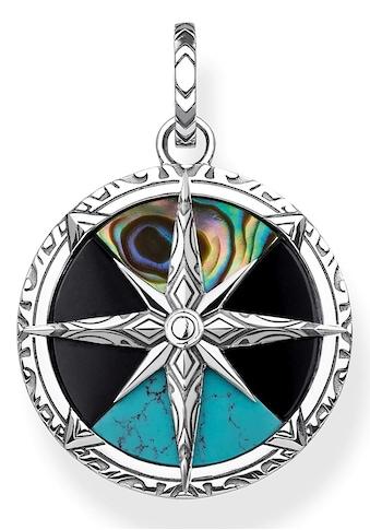 THOMAS SABO Kettenanhänger »Kompass Klein, PE833-980-7«, mit Perlmutt, Onyx und imit.... kaufen