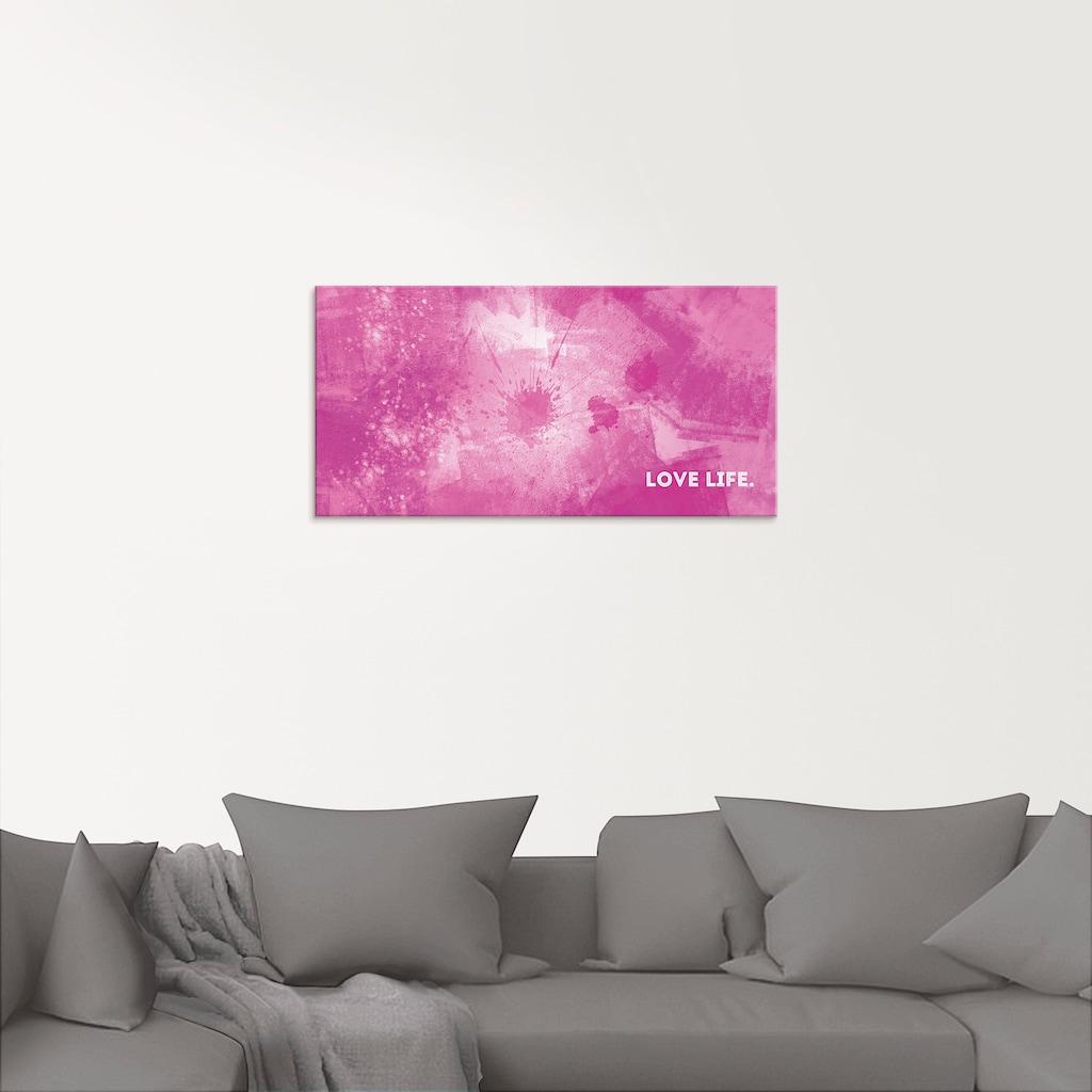 Artland Glasbild »Emotionale Kunst Liebesleben«, Sprüche & Texte, (1 St.)