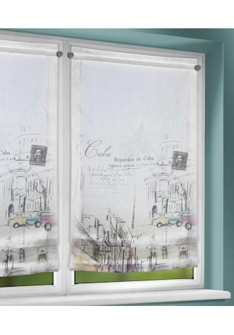 WILLKOMMEN ZUHAUSE by ALBANI GROUP Raffrollo »Cuba«, mit Stangendurchzug, Clipsrollo... kaufen