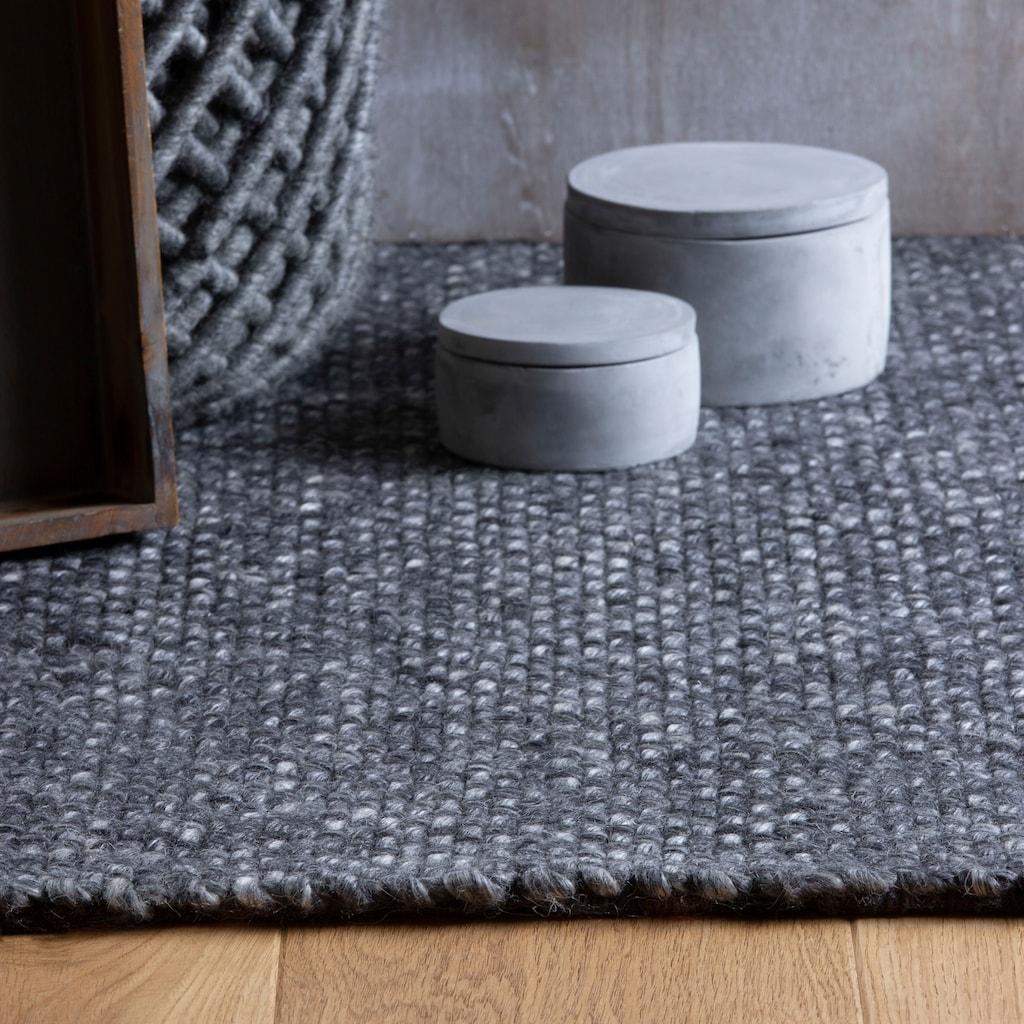 Obsession Wollteppich »My Eskil 515«, rechteckig, 11 mm Höhe, reine Wolle, mit Fransen, Wohnzimmer