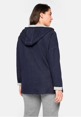 Sheego Kapuzensweatshirt, mit V-Ausschnitt kaufen