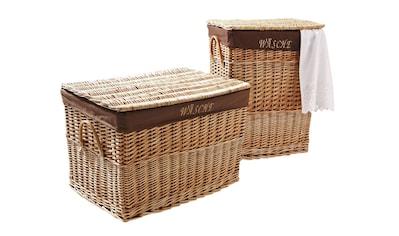 """Wäschekorb, mit Schriftzug """"Wäsche"""" kaufen"""