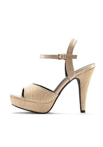 LASCANA High-Heel-Sandalette, mit raffinierten Spitzendetails kaufen