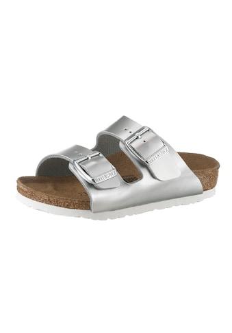 Birkenstock Pantolette »ARIZONA BF ELECTRIC METALLIC«, in toller Metallic-Optik und schmaler Schuhweite kaufen