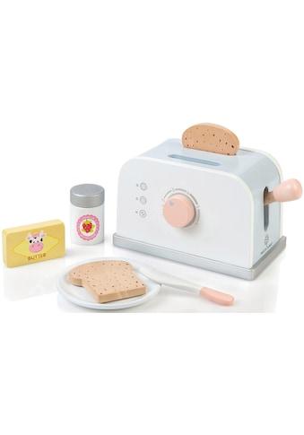 MUSTERKIND® Kinder-Toaster »Olea, weiß/graublau«, mit drehbaren Knopf kaufen
