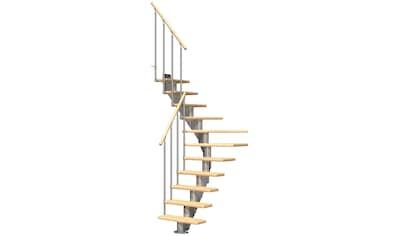 DOLLE Mittelholmtreppe »Frankfurt Birke 75«, bis 301 cm, Metallgeländer, versch. Ausführungen kaufen