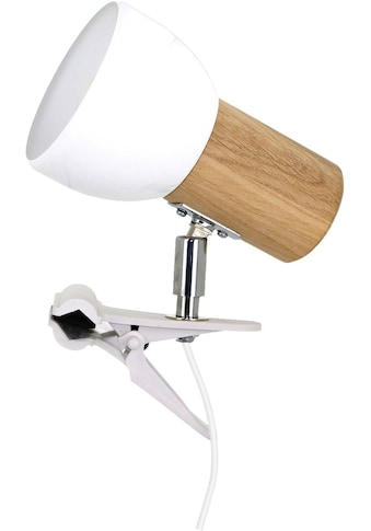 SPOT Light Klemmleuchte »SVENDA«, E27, Naturprodukt aus Massivholz, Nachhaltig mit FSC®-Zertifikat, Mit beweglichem Kopf, Passende LM E27, Made in EU kaufen