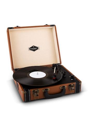 Auna Retro Plattenspieler LP USB Chinch Stereolautsprecher Turntable kaufen