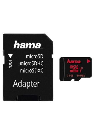 Hama micro SDHC 32 GB UHS Speed Class 3 UHS-I 80MB/s + Adapter kaufen