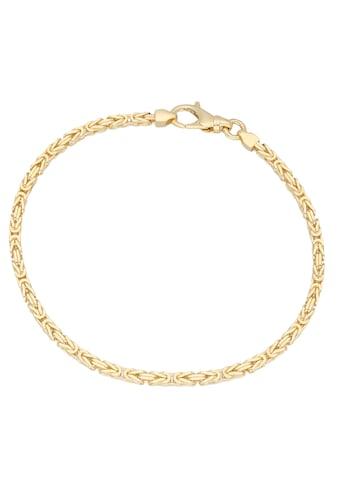 Firetti Goldarmband »Prächtige Königskettengliederung, 2,5 mm breit, diamantiert, massiv« kaufen