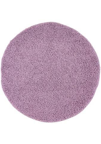 Hochflor - Teppich, »Pastell Shaggy300«, Carpet City, rund, Höhe 30 mm, maschinell gewebt kaufen