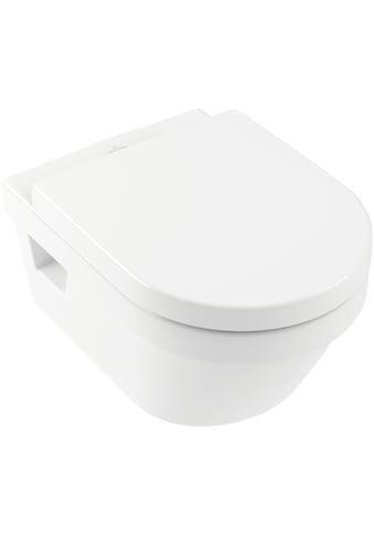 VILLEROY & BOCH Tiefspül - WC »Architectura«, Combi - Pack, wandhängend mit DirectFlush, Weiß Alpin kaufen