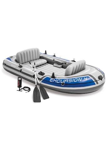 Intex Schlauchboot »Excursion 4«, (Set, mit 2 Paddeln und Luftpumpe) kaufen