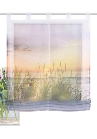 HOME WOHNIDEEN Raffrollo »EVENING«, mit Schlaufen, freihängend, Digitaldruck kaufen