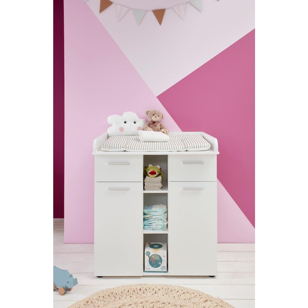 Babyzimmer-Komplettset »Tilburg«, (Set, 3 tlg.), Wickelkommode, Bett und 3trg. Schrank